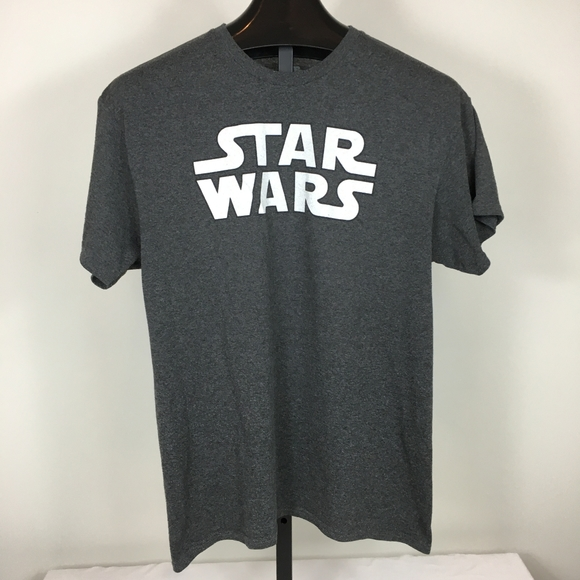 Star Wars Mens Tshirt Sz Large Gray Short Sleeve